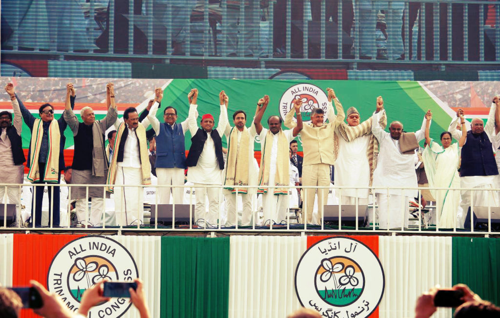 Opposition Stages Giant Joint Rally to oust Narendra Modi