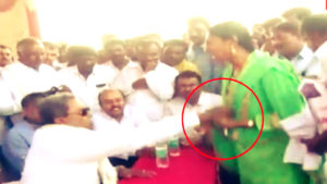 Siddaramaiah Loses it! Manhandles Woman for Questioning his Performance mid