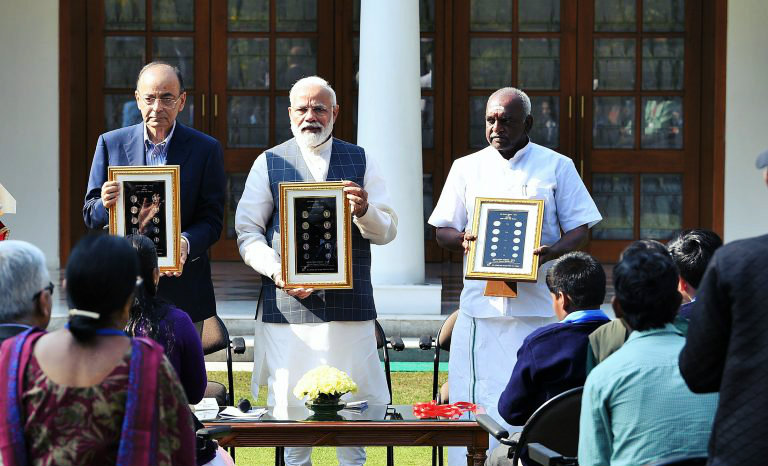 Unveiled Visually Impaired Friendly Coins By Narendra Modi