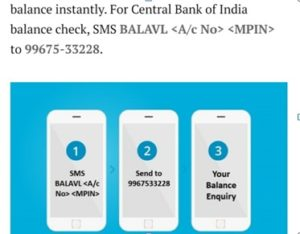 Central Bank of India Account Balance
