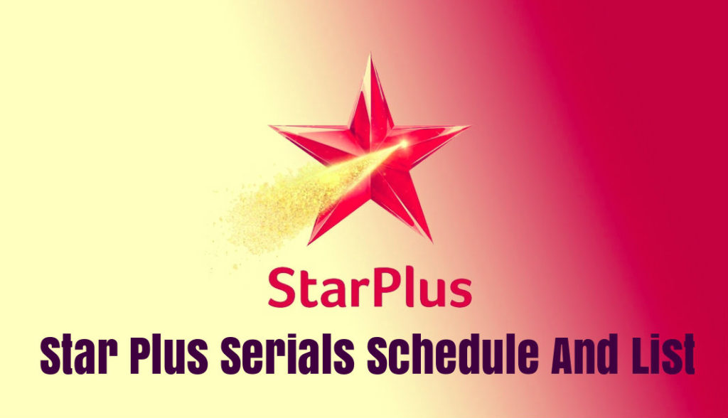 Star Plus Schedule 2020