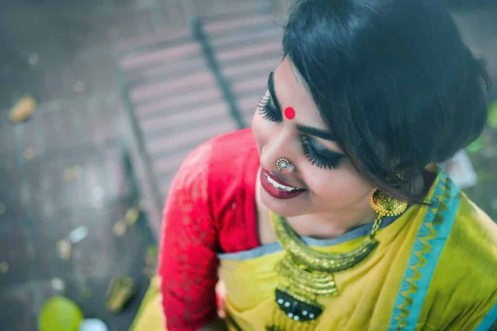 traditional bengali saree